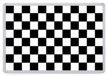 Ska Checkers Fridge Magnet. The Specials, Madness etc. Black and White Checks